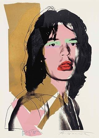 Andy Warhol Mick Jagger 250 Gsm Hochglanz A3 Vervielfältigtes