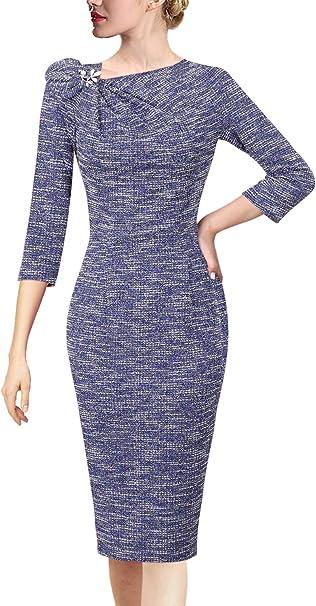 Amazon.com: VFSHOW vestido de fiesta de cóctel plisado ...