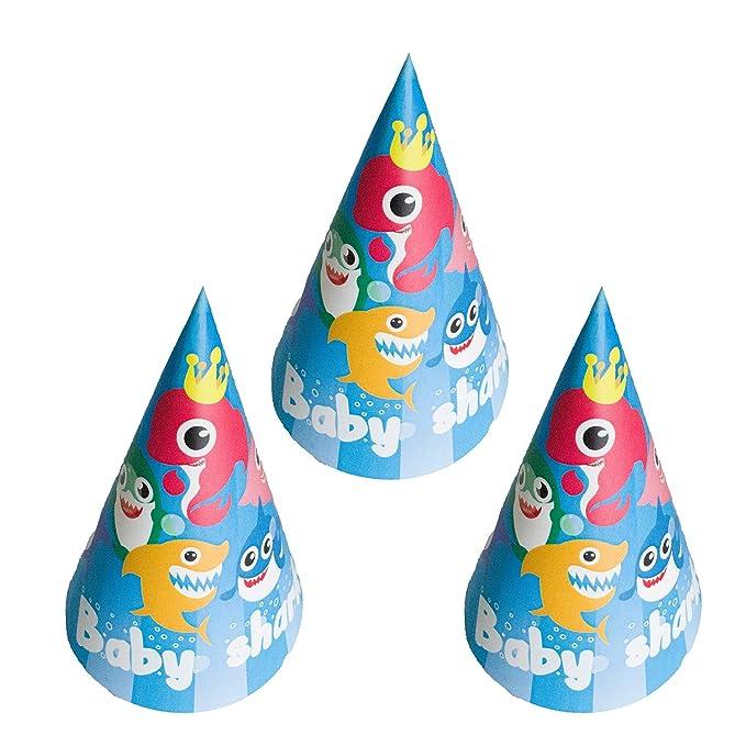 Amazon.com: Tiburón Bebé Cumpleaños Fiesta Sombreros Tiburón ...