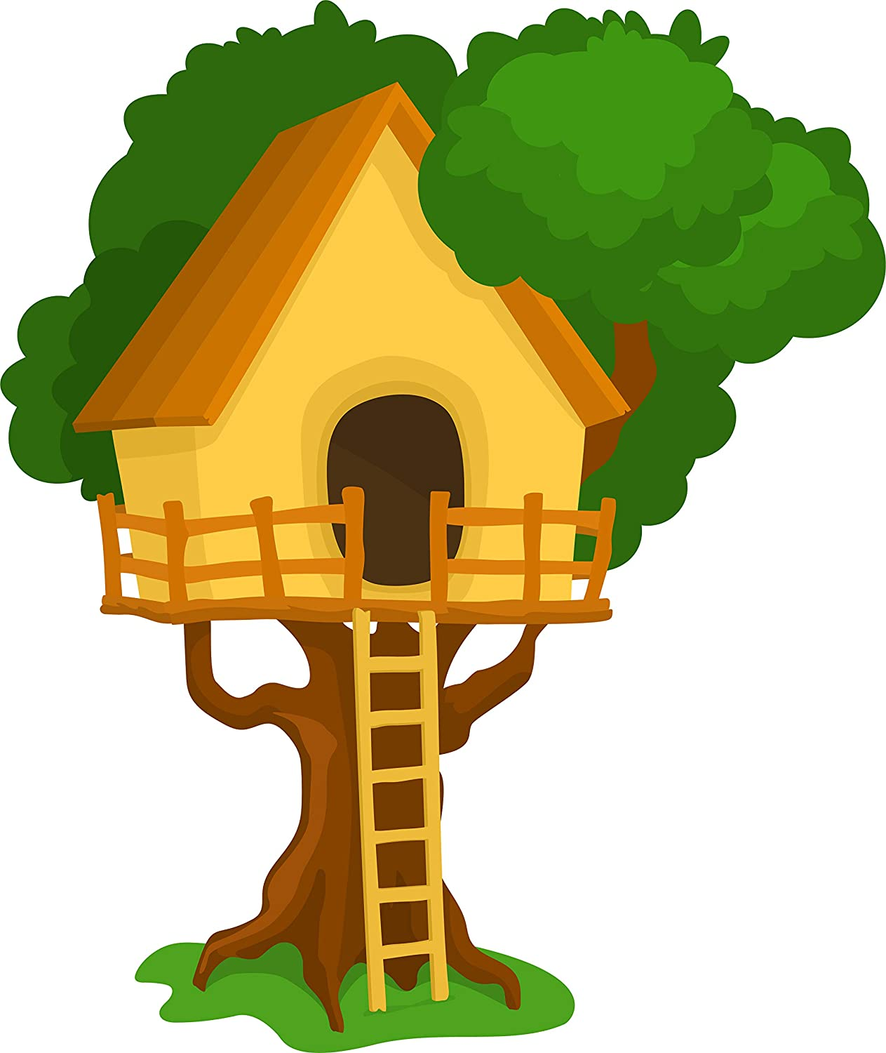 Amazon Com Cute Childhood Treehouse Cartoon Art Vinyl Sticker Bird House Automotive What sick person would chop your mom not pieces and make you wear her? cute childhood treehouse cartoon