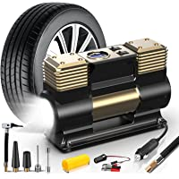 WOLFBOX Portable Air Compressor Pump-Heavy Duty Double Cylinders,150PS 12V Digital Tire Inflator with Preset Tire…