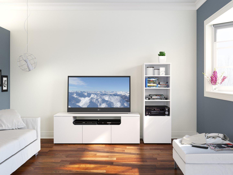 Amazon.com: Arobas 600103 60-inch TV Stand from Nexera, White ...