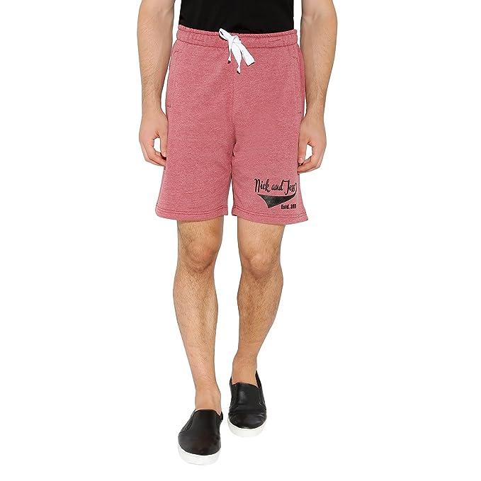 c419da1bf9 nick jess - Pantalón corto - Liso - para hombre rosa rosa Small ...