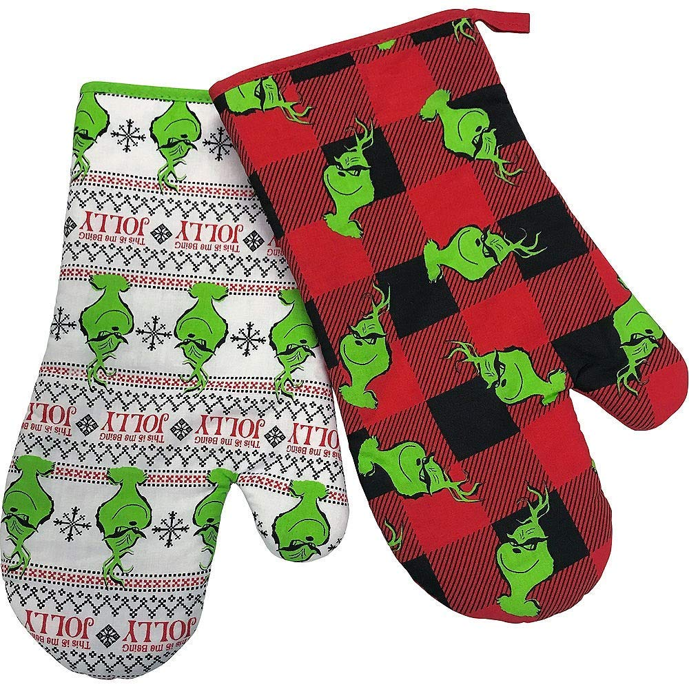 GRINCH Oven Mitts ~ Set of 2