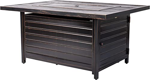 Fire Sense Sawyer Rectangular Aluminum LPG Fire Pit Table