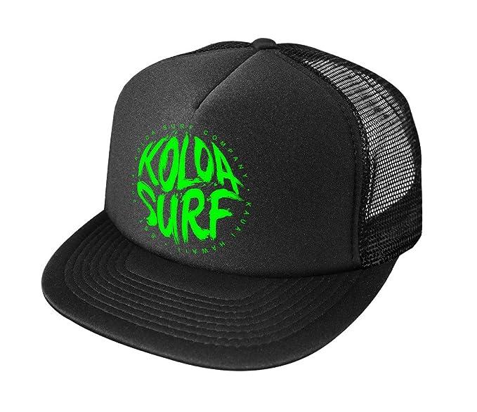 Amazon.com  Joe s USA Koloa Surf Brush Logo High Profile Poly-Foam Trucker  Hat-Black Black Green  Clothing 394713bd656