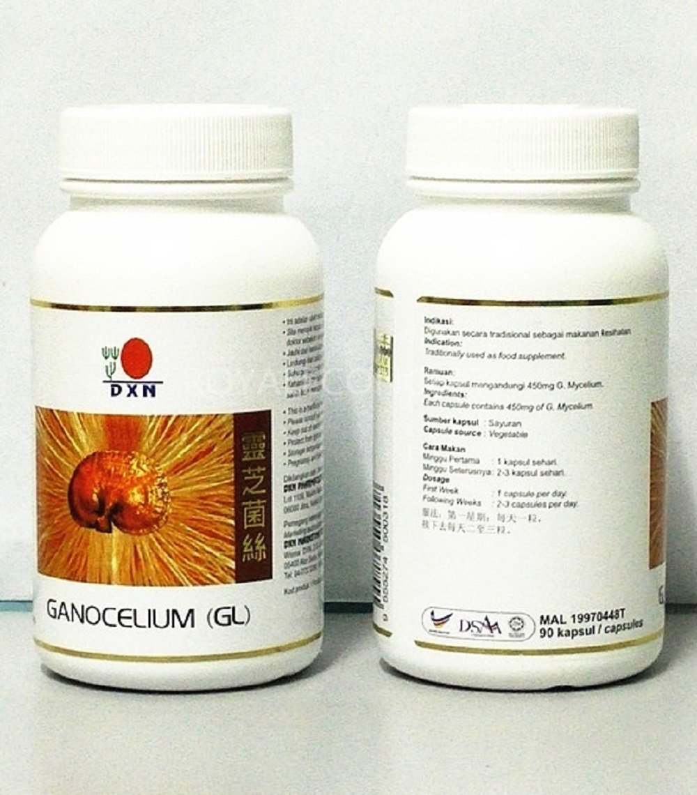 1 Bottle DXN Ganocelium GL 90 GL-90 ( Mycellium ) : 90 capsules per bottle by DXN
