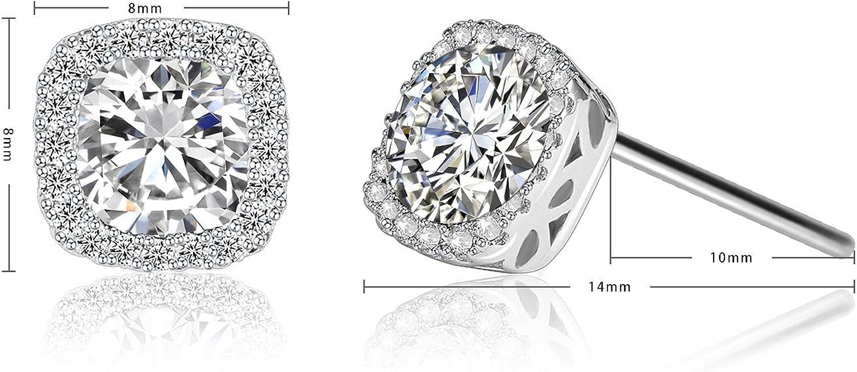 maman Ribivaul boucles doreilles femme en argent cadeau de No/ël boucles doreilles blanches pour bijoux de fille en argent 925 avec zircone 5A