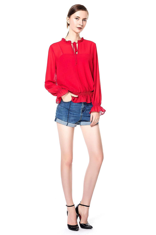 bluee Rainbow Women's Fashion Hot Shorts Ripped Jean Shorts