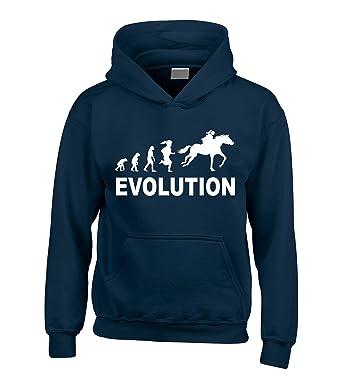 a6701627d8af1 Sudadera de capucha con diseño de evolución y caballo