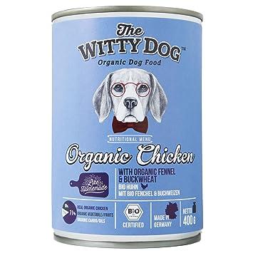 The Witty Dog, Comida BIO Húmeda Para Perros, Alimento Bio Completo: Pollo con