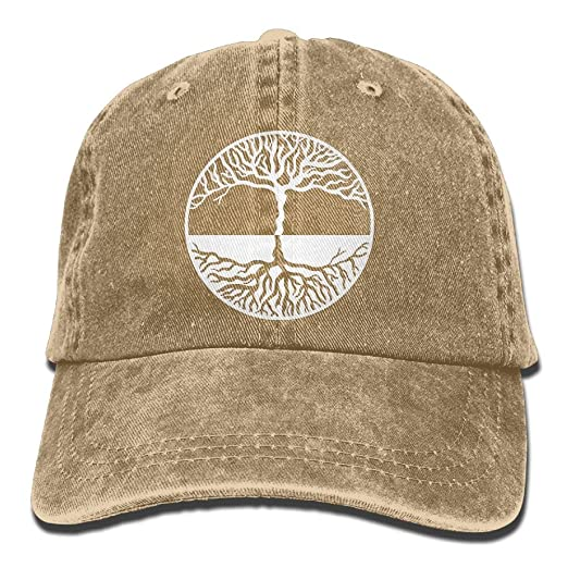 Men s Women s Tree of Life Yin Yang Denim Fabric Baseball Cap Adjustable  Trucker Cap c547092976