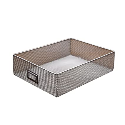 Perfect Lzttyee Sturdy Metal Mesh CD Storage Box Basket Media Holder Organizer  Stackable Open Storage Bin With