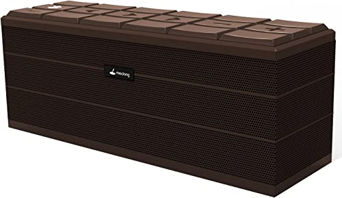 SINGING WOOD BT25 Powered Bluetooth Bookshelf Speakers- Studio Monitor Speakers -2 AUX Input – Remote Control – Wooden Enclosure – Max 50 Watts RMS Cherry Wood