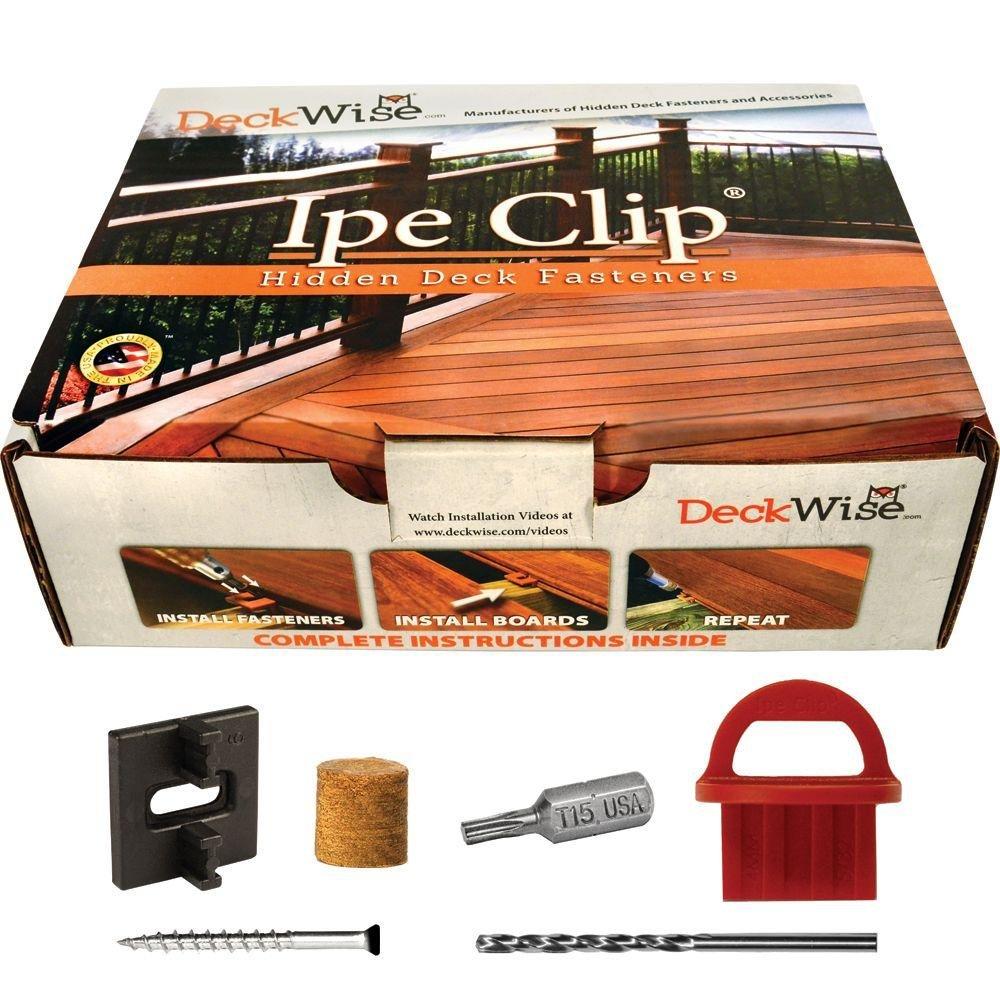DeckWise Extreme4 Ipe Clip Black BiscuitStyle Hidden Deck Fastener Kit Hardwoods