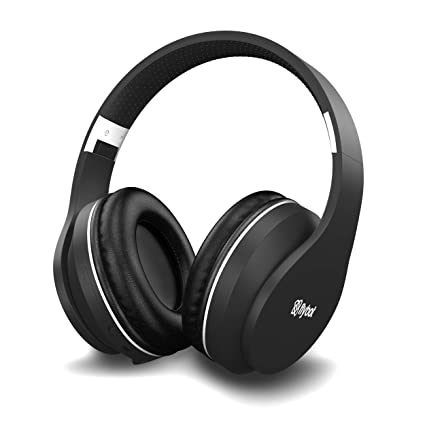 [Apply coupon] Flybot Rock Over-Ear Bluetooth Headphone with Seamless Controls, IPX 5 Sweat Proof Cushions, up to 6 Hours Playtime (Black-Silver)