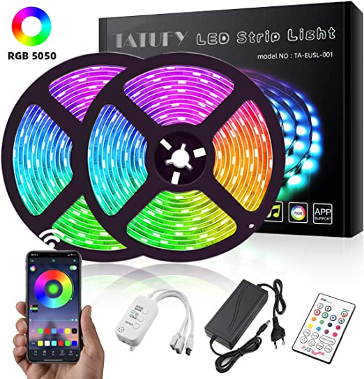 DEL Ventilateur Plafond RGB Télécommande éclairage Alexa Google Home Smart-DEL WIFI