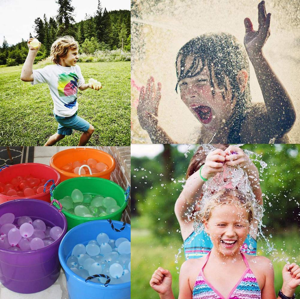 MiMiLive Water Balloon Self Sealing Latex Water Bomb Balloon 500 PCS with 4 Refill Kit for Water Bomb Game/&Summer Outdoor Sport/&Party Favor MiMiLai