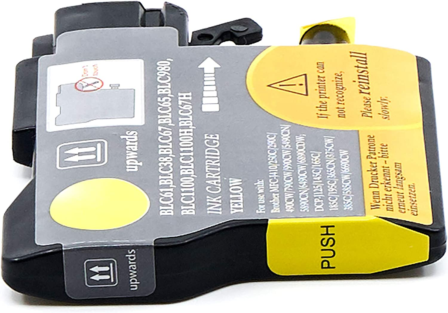 Yellow,1 Pack LC61Y SuppliesOutlet Compatible Ink Cartridge Replacement for Brother LC61