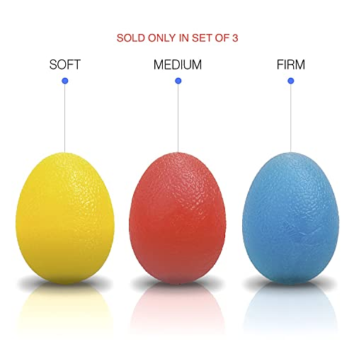 The Friendly Swede Hand Grip Strength Trainer, Stress Ball for Adults and Kids, Hand Therapy Ball Squishy