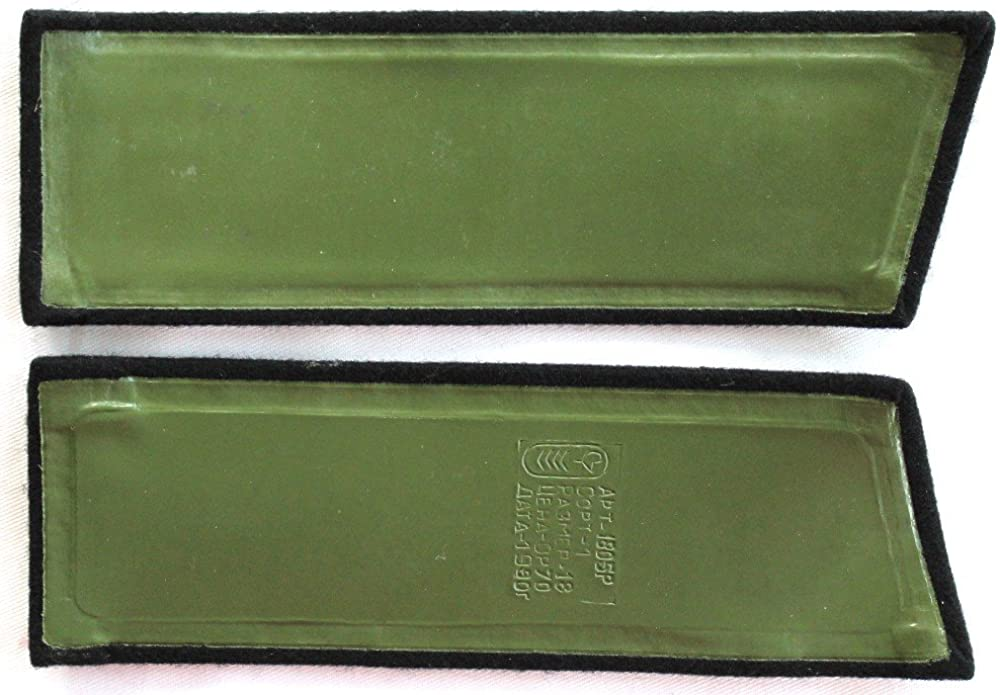 5 Green Stars Russian Army Officers shoulder boards-straps  Metall Small 12 mm.