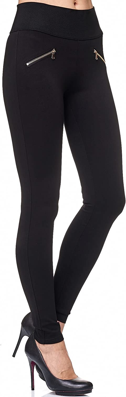 Elara Pantalones Mujer Stretch Skinny Cintura Alta Chunkyrayan