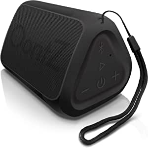 OontZ Angle Solo Portable Bluetooth Speaker Compact Size Delivers Loud Volume and Bass 100 Wireless Range IPX-5 Splashproof Travel Speaker Black with Lanyard