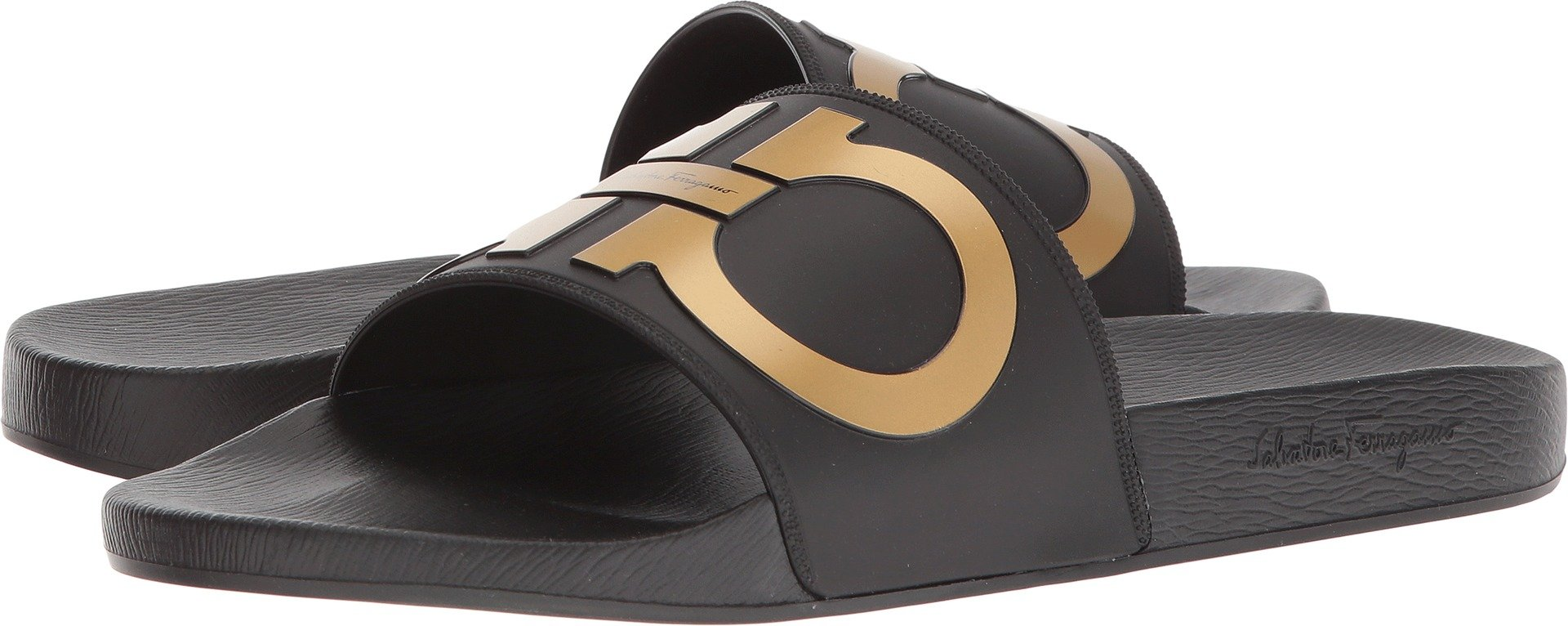 33077bf20d2 Galleon - Salvatore Ferragamo Men s Groove 2 Slides