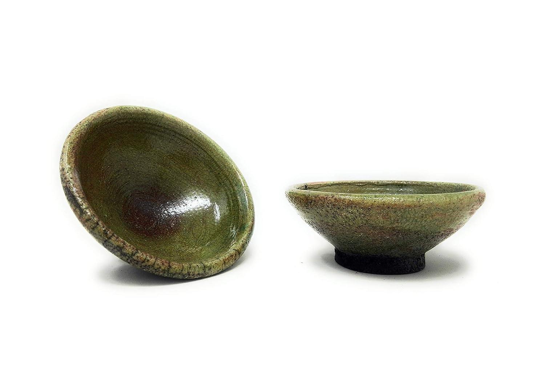 Boles de té de cerámica japonesa de raku