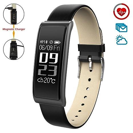 CHEREEKI Fitness Tracker dActivité Moniteur de Fréquence Cardiaque Montre Connectée Fitness Health Smartwatch Bluetooth