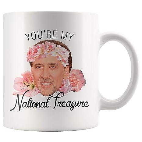 Amazon.com: Nicolas Cage Youre My National Treasure Taza ...