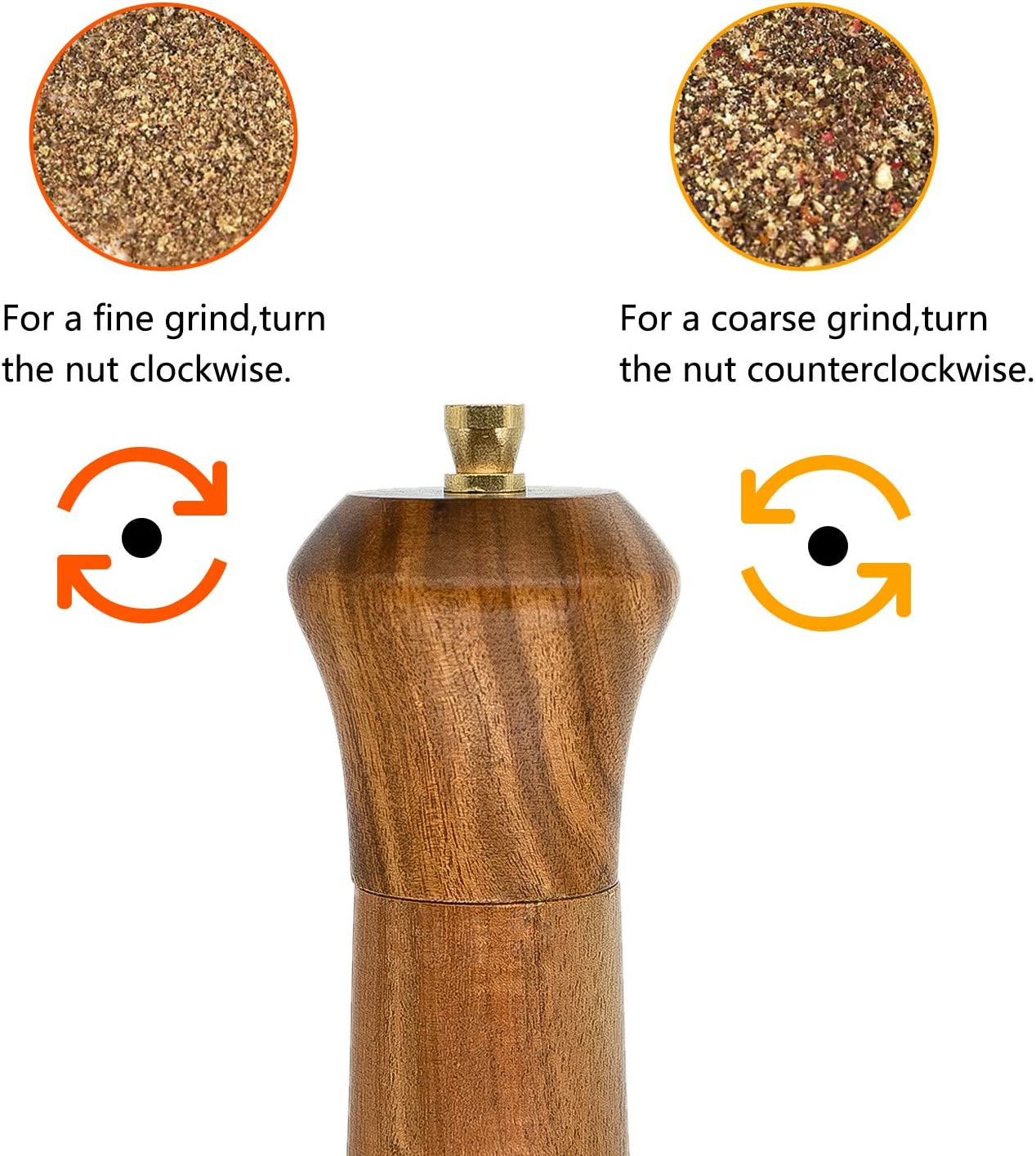 salt and pepper grinder shaker Tableware Gifts Pepper Grinder 10 Inch,Acacia Wood salt and pepper grinders refillable salt grinder pepper Mill with Adjustable Coarseness