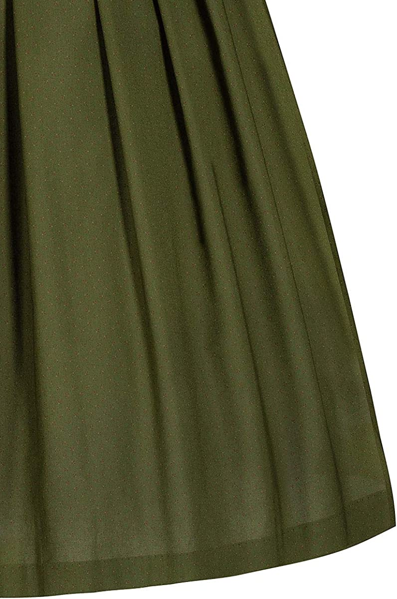 h.moser Dirndl lang 80er dunkelrot olivgr/ün Gemustert Heidelotte 006716 antik verzierte Trachtenkn/öpfe klassisches Baumwolldirndl Karreeausschnitt mit traditionellem Blumenmuster