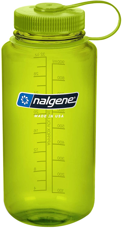 Nalgene 1413830 - Bidón con boca ancha de acampada y senderismo, color Verde, 1 L