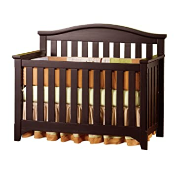 Hawthorne Nursery 4 Piece Furniture Crib Set  Convertible Crib Is  Constructed From Solid Wood With