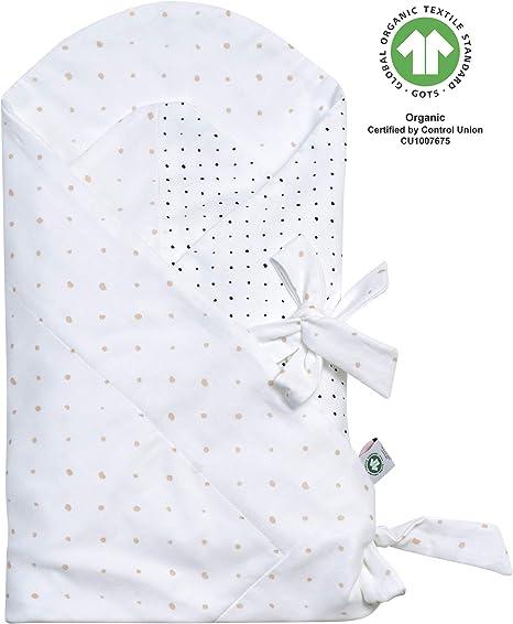 Manta para bebé con Certificado Gots de algodón orgánico, Manta para Envolver al bebé de Motherhood – Manchas Albaricoque y Negro: Amazon.es: Bebé