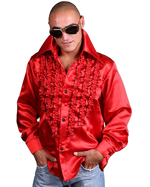 Hemd Fur Herren Orange M L Xl Xxl Glanzend Faschingskostum Karneval