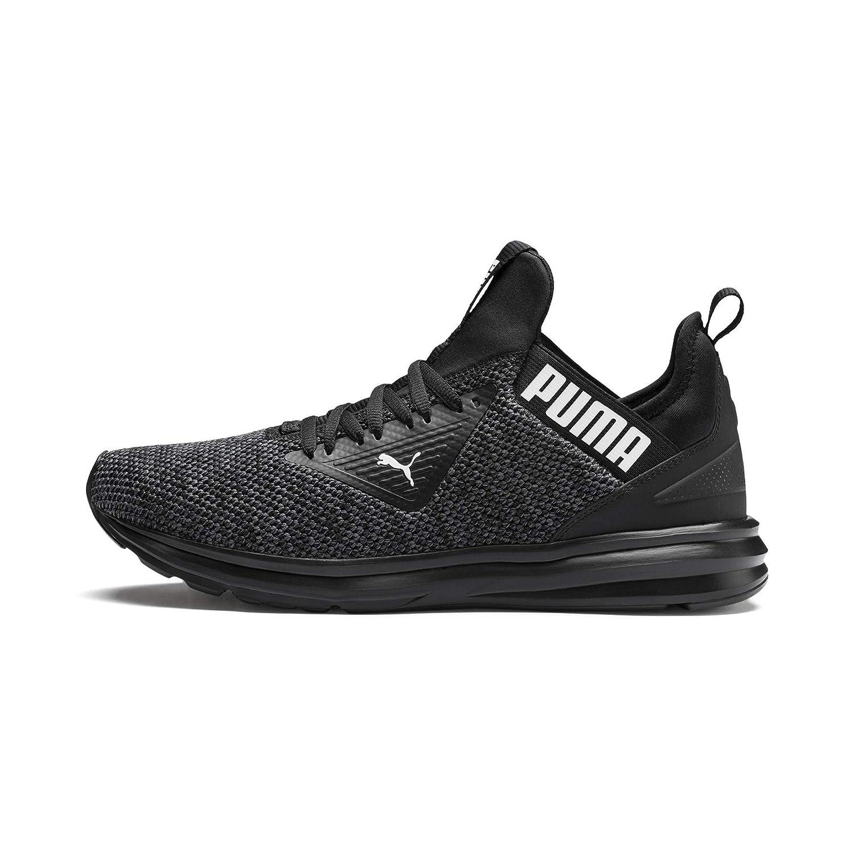 Puma Men's Enzo Beta Woven Black Asphalt Running Shoes