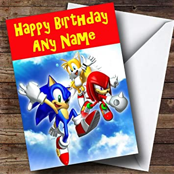 Personalised Sonic The Hedgehog Birthday Card Amazon Office