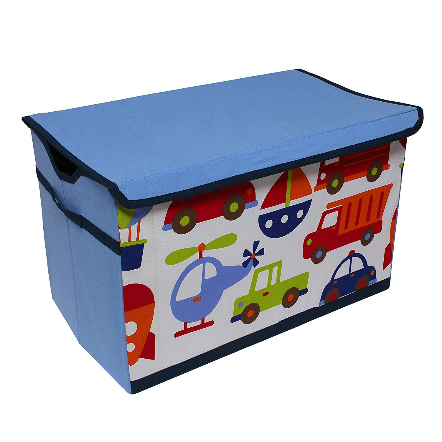 Bacati Transportation Storage Toy Chest BITMSTC