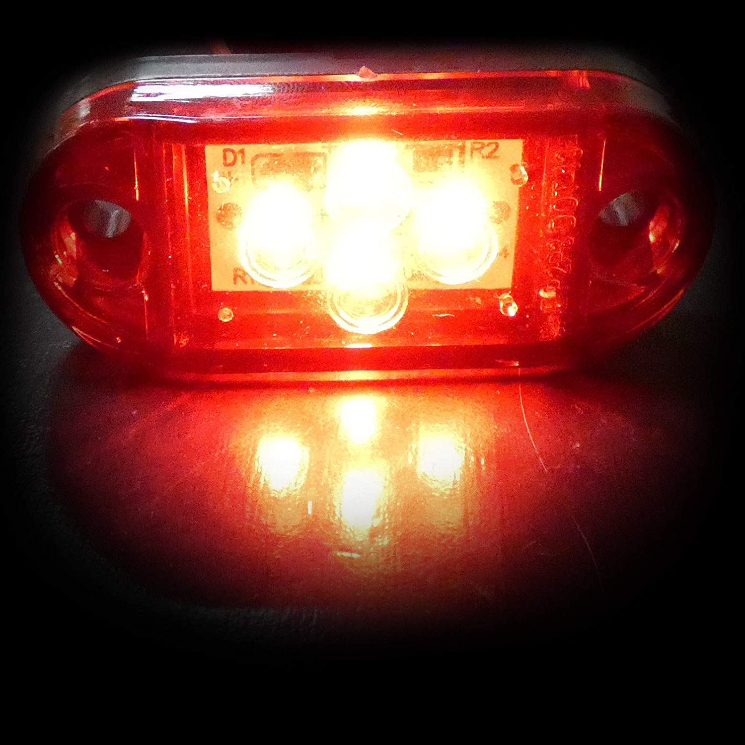 flexzon 10x 24v Led red rear side tail marker lights lamps trailer truck lorry trailer