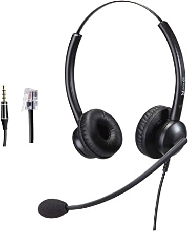 Telefon Headset Mit Mikrofon Noise Cancelling Stereo Elektronik