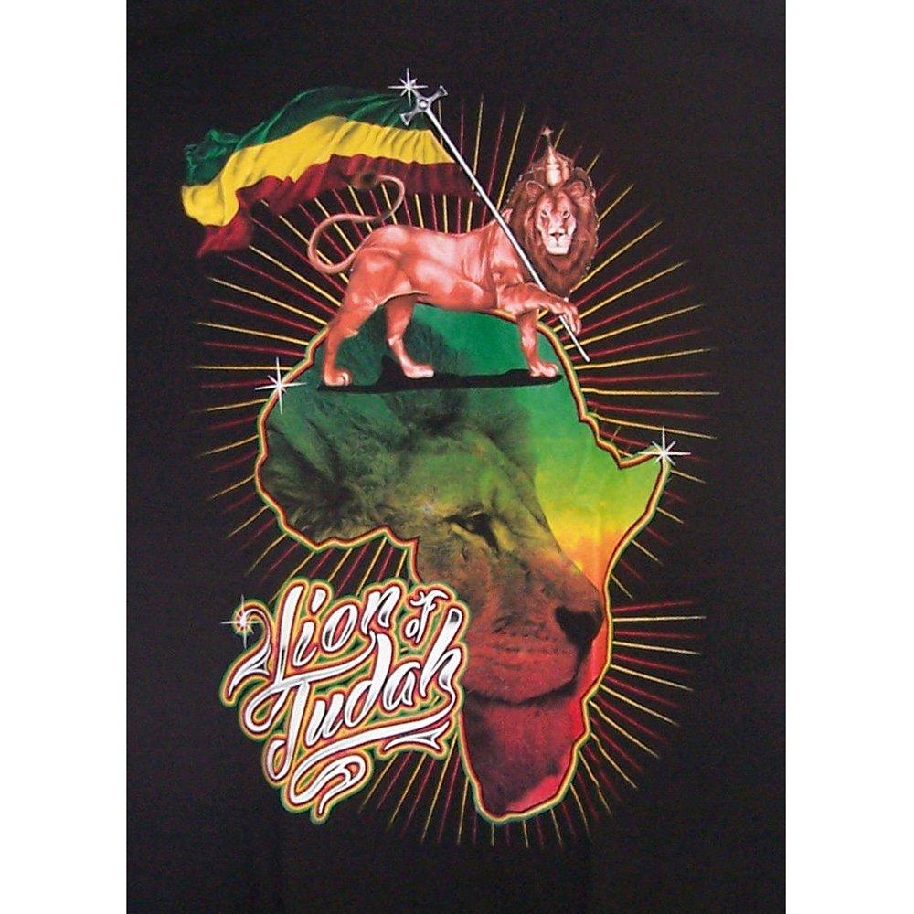 Assorted Styles T-shirts Lion Of Judah Reggae Rasta Bob Marley Black T-Shirts Mens Size XLarge (RrTs10) (M)