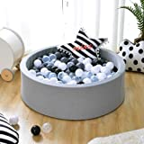 Triclicks Deluxe Kids Ball Pit Kiddie Balls Pool Soft Baby Playpen Indoor Outdoor - Ideal Gift Play Toy for Children Toddler Boys Girls (Grey)
