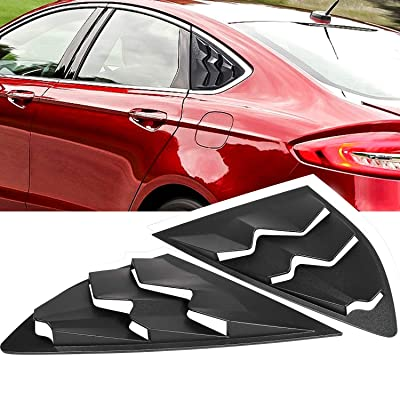 Danti Side Window Louvers Sun Shade Cover in GT Lambo Style for 2013-2020 Ford Fusion Models: Automotive