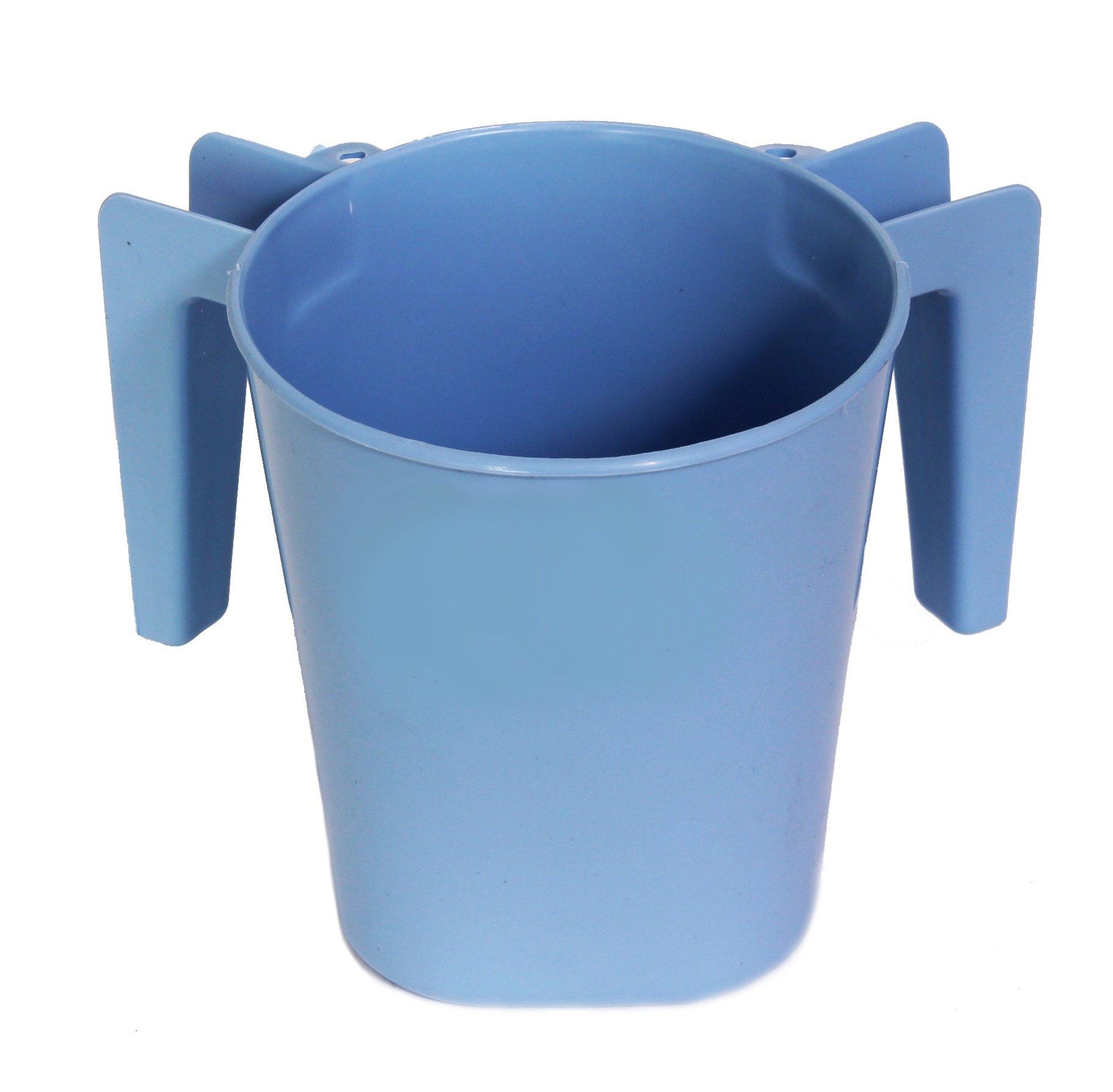 Ybm Home Plastic Square Wash Cup Ba154 (Light Blue, 4)