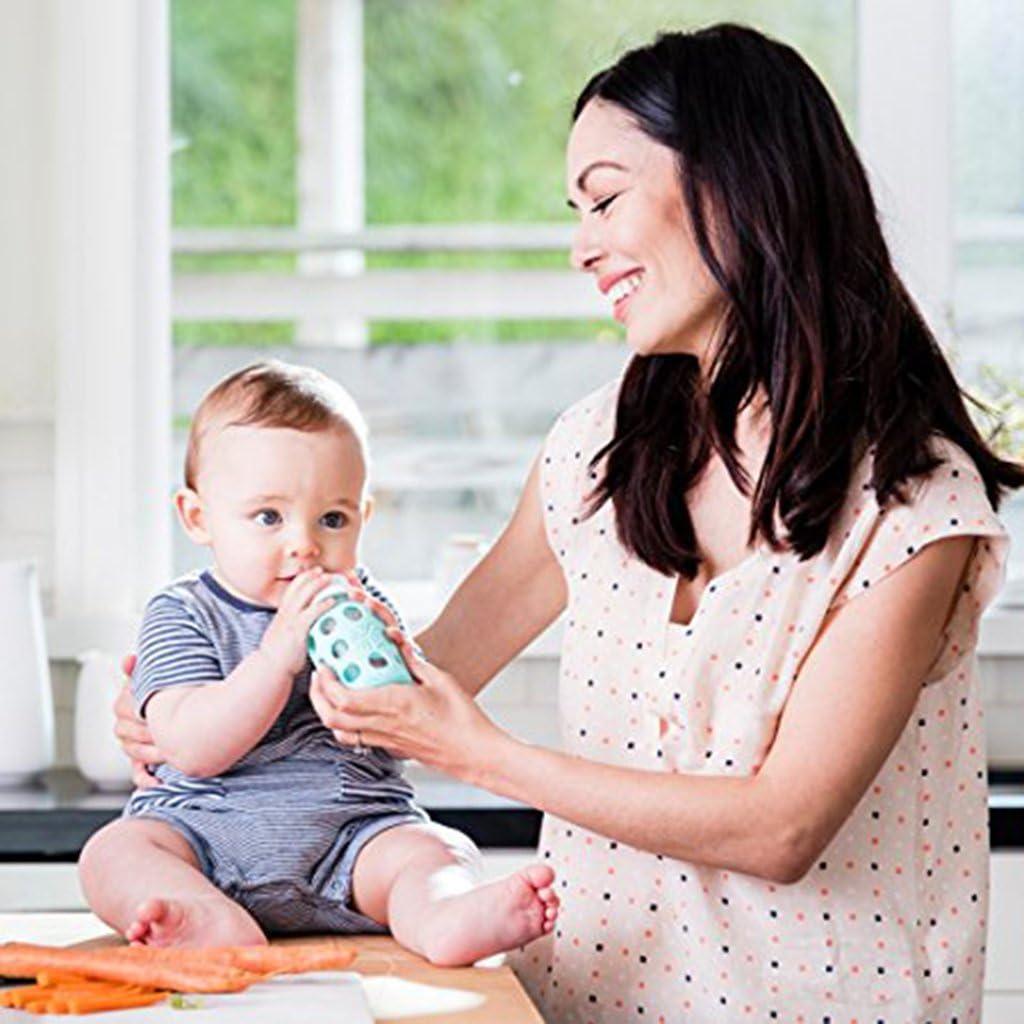 Premium Baby Feeding Milk Funda De Silicona Con Funda Para Biber/ón Proteger Aislante Azul