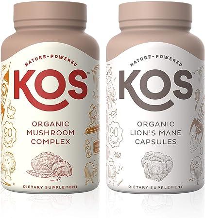 KOS Mushroom Complex + Lion's Mane Capsules Bundle