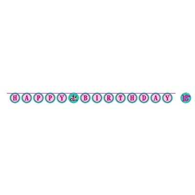 Creative Converting 317719 Sparkle Spa Party Ribbon Banner, One Size, Multicolor: Toys & Games