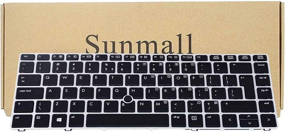 SUNMALL Teclado retroiluminado de Repuesto con Llave de Entrada Grande y Puntero de ratón, Compatible con HP Elitebook Folio 9470m 9480m Series Laptop